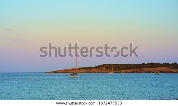 Mediterranean island of Mallorca, the calm after the sunset