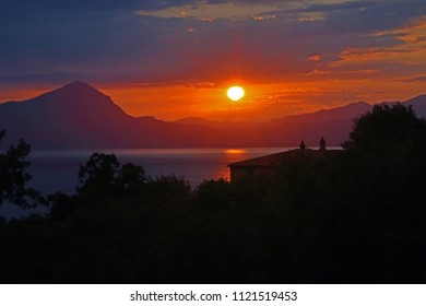 Mediterranean landscape at sunset, Maratea, Basilicata, Italy