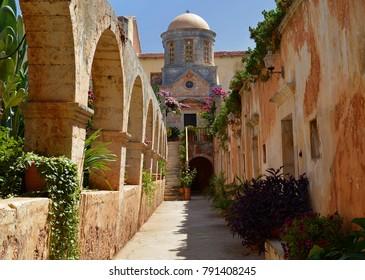 Mediterranean Monastery View from Agia Triada, Akrotiri, Crete