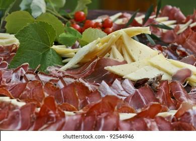 Mediterranean prosciutto and cheese