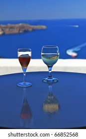 Mediterranean Santorini Wine Glasses