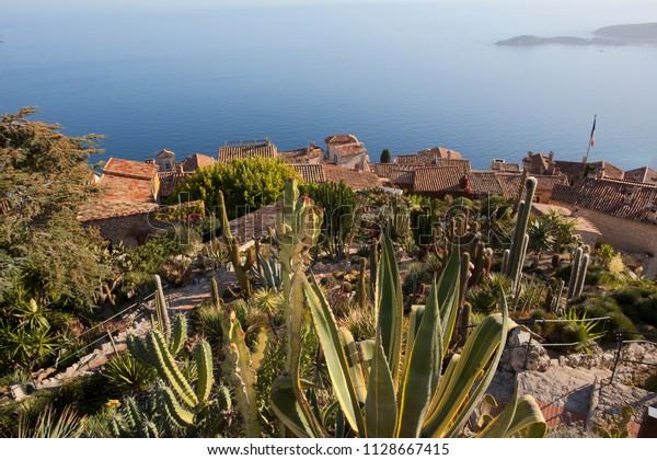 Mediterranean Scenery Jardin Exotique Stock Photo Edit Now