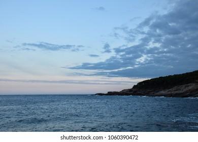 Mediterranean sea coast in Tamariu