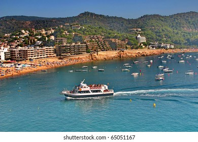 Mediterranean Sea. The cove  and the town