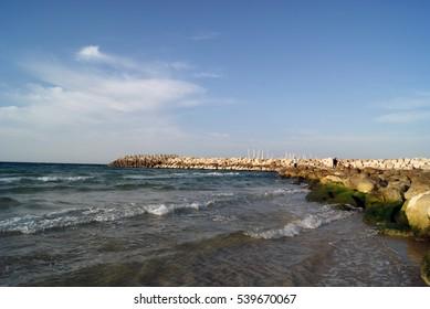 Of the Mediterranean sea. Israel.