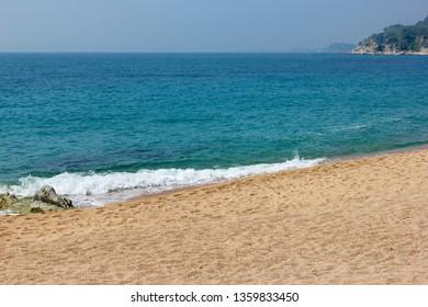 Mediterranean sea  in Lloret de Mar, Catalonia, Spain