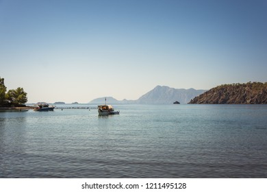 Mediterranean Sea - Mountains view, Ships (Antalya, Turkey)