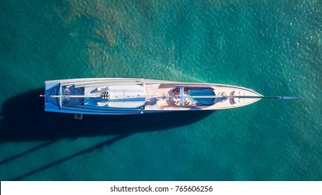 "Mediterranean Sea - November 24, 2017: Aerial image of Sailing yacht ""A"", The largest sailing yacht in the world, built in 2015 and designed by Philippe Starck."