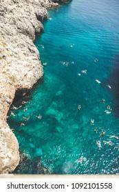 Mediterranean Sea from Ponte del Diavolo, Puglia, Italy
