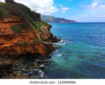 Mediterranean Sea from the Roman Ruins of Tipaza, Algeria.
