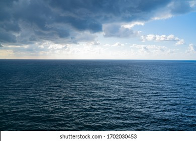 Mediterranean Sea With Stormy Clouds