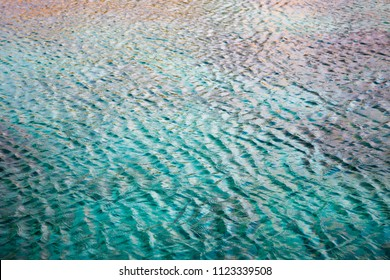 Mediterranean Sea surface with turquoise waters