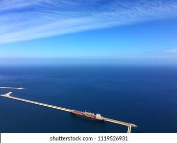 Mediterranean Sea view from Santa Cruz, Oran, Algeria.
