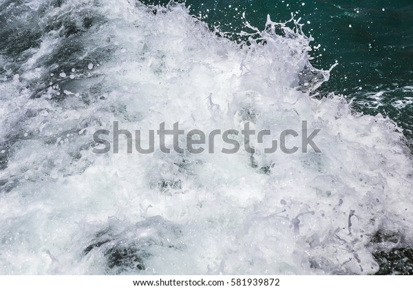 Mediterranean sea waves close-up