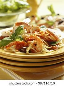 Mediterranean Shrimp with pasta