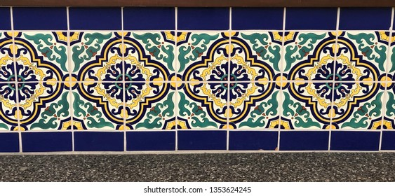Mediterranean tiles on wall