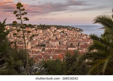 Mediterranean town by the ocean