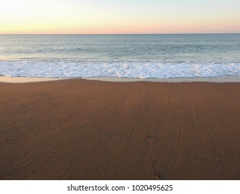 Mediterranean Turkish coast in the early morning, east of the resort town of Side