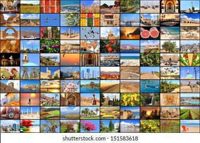 Mediterranean vacation collage photos