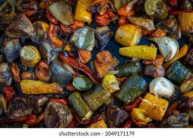 Légumes méditerranéens cuisinés à la plancha