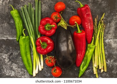 Mediterranean vegetables, ingredients