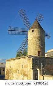 Mediterranean Windmill in Manacor (Majorca - Spain)