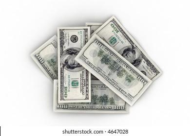 medium pile of us dollars