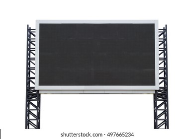 Medium scoreboard stadium isolated on white background. use clipping path