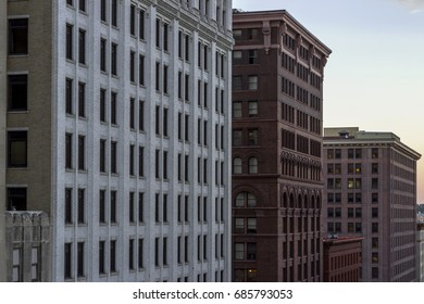 A Medium Shot of Classic St Paul Architecture Styling during Sunset