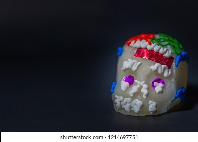 Medium sugar skull with black background