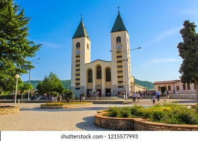 Medjugorje, Bosnia-Erzegovina - 05 01 2018: Medjugorje Church