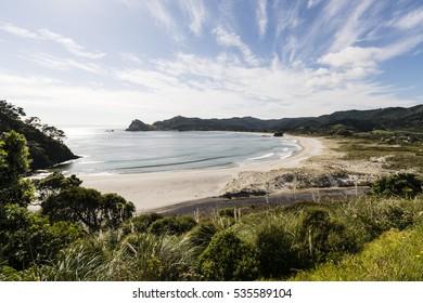 Medlands Beach, Gt Barrier Island, NZ/ one of the beautiful east coast bays on Great Barrier Island, New Zealand