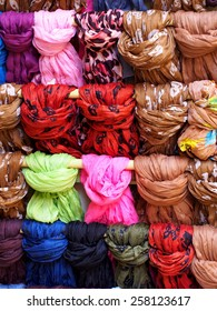 Medley of colorful scarfs
