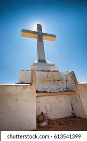 Medugorje (Medjugorje), Bosnia and Herzegovina - June 17, 2012: The cross on the top of Mount Krizevac in Medjugorje, this is the place where it is believed that Blessed Virgin Marry appeared.