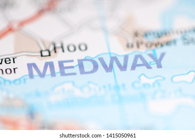 Medway. United Kingdom on a geography map