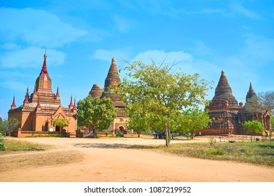 Mee Nyein Gone Phaya Temple complex is one of few located in Old Bagan Village, Myanmar
