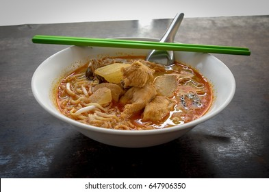 Mee rebus or curry mee noodle thailand