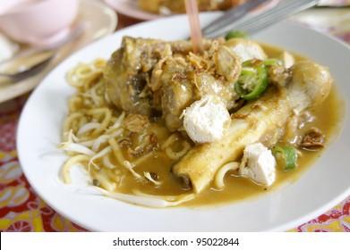 Mee Rebus Tulang, famous dish among Malaysian.