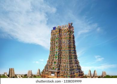 Meenakshi Amman Hindu Temple Gopuram