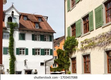 Meersburg am Bodensee, Baden-Wuerttemberg, Germany – MAY 12, 2015; Meersburg historical Center