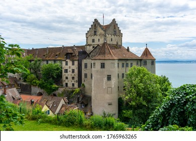 Meersburg, BW / Germany - 22 June 2020: view of Meersburg on Lake Constance with the historic old castle