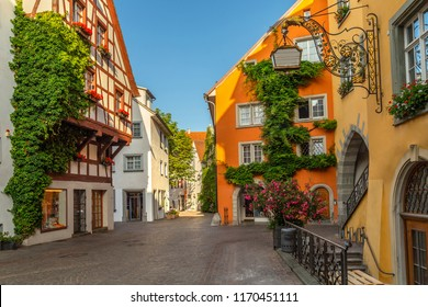 Meersburg, a town in the southwestern German state of Baden-Wurttemberg. On the shore of Lake Constance (Bodensee), it's surrounded by vineyards. Typical Bavarian cosy small town