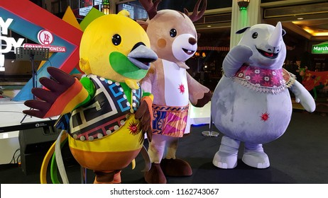 Meet and Greet Asian Games Mascot 2018 in Jakarta, Indonesia on 19/8/2018