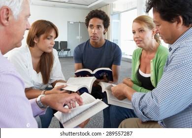 Meeting Of Bible Study Group