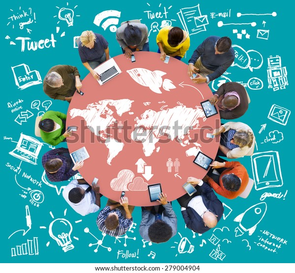 Groovy Meeting Brainstorm Round Table Ideas Communication Stock Interior Design Ideas Ghosoteloinfo