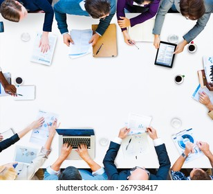 Meeting Data Analysis Communication Planning Business Concept