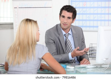 Meeting with manager