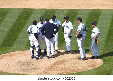 meeting at the mound