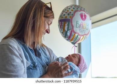 meeting new granddaughter in hospital
