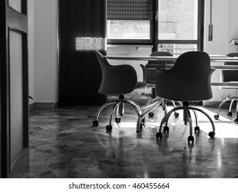 Meeting room black and white